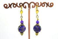 Boucles d'oreilles et perle cloisonnée - Collection Pacific