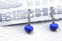 Boucles d'oreilles petites et bleues - Collection Piccoli