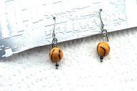 Boucles d'oreilles montées en graine - Collection Piccoli