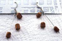 """Boucles d'oreilles """"trois en bois"""" - Collection Piccoli"""