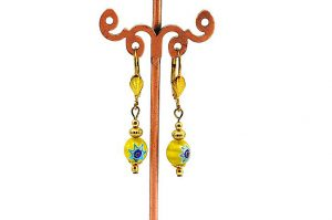 Boucles d'oreilles Millefiori ronde - Collection Pacific