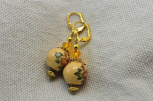 Boucles d'oreilles et perle chinoise - Collection Pacific