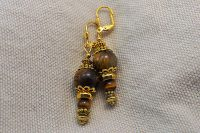 "Boucles d'oreilles ""oeil de tigre""- Collection Pacific"