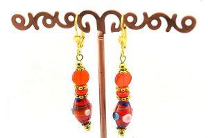 Boucles d'oreilles en deux oranges - Collection Pacific