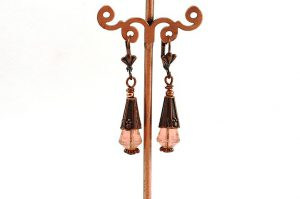 Boucles d'oreilles vintage en verre - Collection Pacific