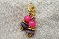 Boucles d'oreilles en agate rose- Collection Pacific
