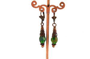 Boucles d'oreilles vintage vertes - Collection Pacific
