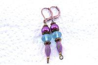 Boucles d'oreilles tout en violet - Collection Pacific