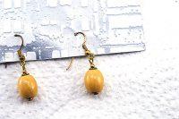 Boucles d'oreilles petites et beiges - Collection Piccoli