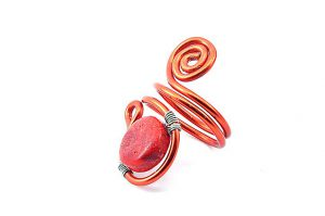Bague en perle de corail (gorgone) - Collection Agathe