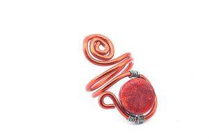 Bague en perle de corail (gorgone) - Collection Agathe