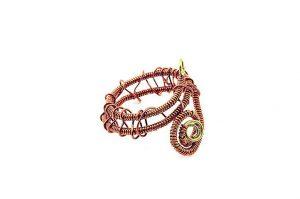 Bague torsadée en fil de laiton marron - Collection Osiris