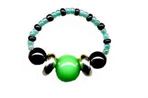 Bague en perles de verre - Collection Osiris