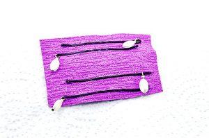 Barrettes avec perles blanches - Collection Bric à Brac