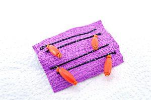 Barrettes métal avec perles bois orange - Collection Bric à Brac