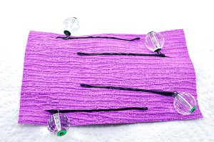 Barrettes métal et perles en résine - Collection Bric à Brac