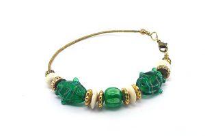 Bracelet en fil et perles de verre - Collection Alida