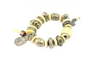 Bracelet en corne et argent - Collection Beijing
