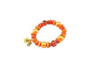 Bracelet en perles de verre orange - Collection Beijing