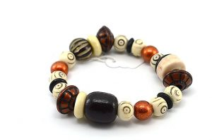 Bracelet en perles corne et cuivre - Collection Gujarat