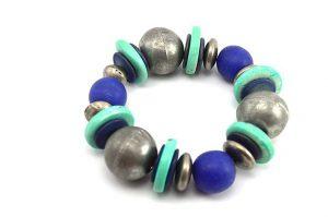 Bracelet bleu grand modèle - Collection Maroussia