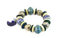 Bracelet bleu et argent - Collection Maroussia