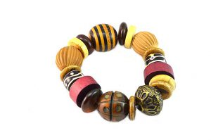 Bracelet perles corne et bois - Collection Gujarat