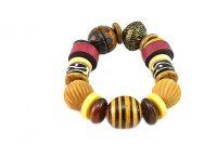 Bracelet perles corne et bois - Collection Gujarat