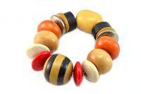 Bracelet grosses perles en bois - Collection Gujarat