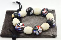 Bracelet en perles Millefiori noires - Collection Passaïa