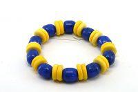 Bracelet d'été en jaune et bleu - Collection Passaïa
