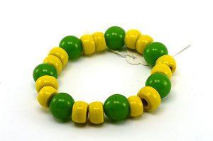 Bracelet d'été en jaune et vert - Collection Passaïa