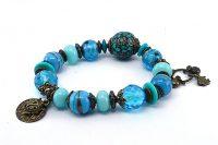Bracelet avec perle centrale du Népal - Collection Siruya
