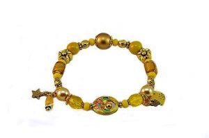 Bracelet en verre et cloisonné - Collection Siruya