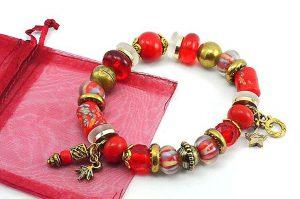 Bracelet en perles de verre et céramique - Collection Siruya