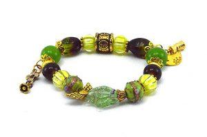 Bracelet en perles de verre et lampwork - Collection Siruya