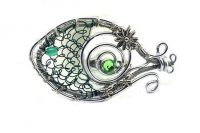Broche poisson en fil argenté- Collection Hoken