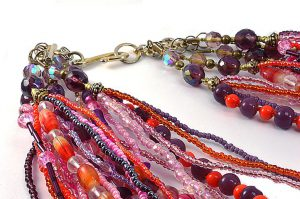 Collier multicolore en 25 rangs - Collection Manhattan