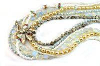 Collier en différents tons de blanc - Collection Manhattan