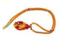Collier sautoir couleur ambre - Collection Memphis
