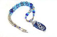 Collier bleu et argent - Collection Sidarta