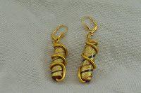 Boucles d'oreilles fil en alu jaune 2- Collection Gozo