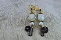 Boucles d'oreilles fil en alu noir - Collection Gozo