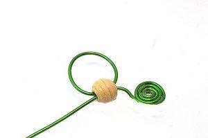 Marque-ta-page en fleur (verte) - Collection Curiosités