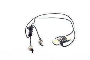 Pendentif avec perle centrale en corne - Collection Epernay