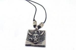 Pendentif avec perle centrale en métal - Collection Epernay