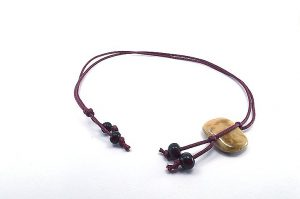 Pendentif avec perle centrale en porcelaine - Collection Epernay