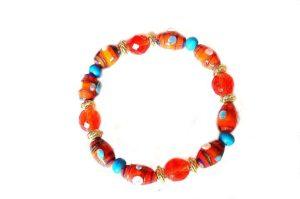 Bracelet orange et bleu