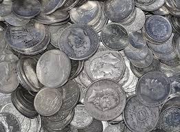 Pièces de monnaie en argent