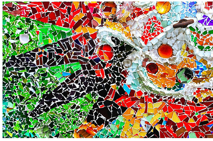 Mosaïques colorées- Parc Guëll - Barcelone